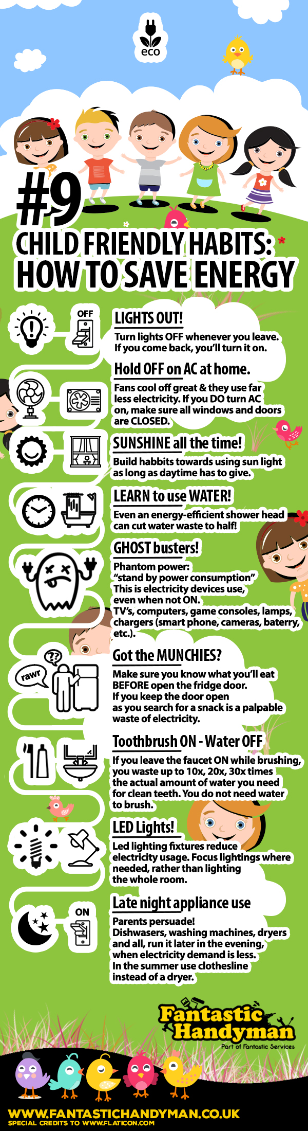How To Save Energy Forkids   Infographic