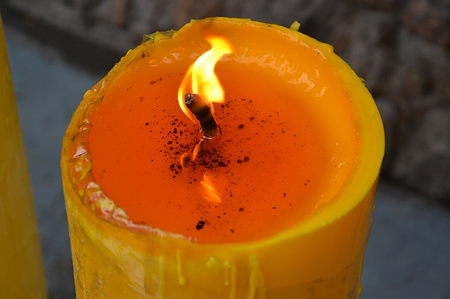 flaming candle