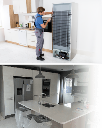 Fridge and freezer installation in London