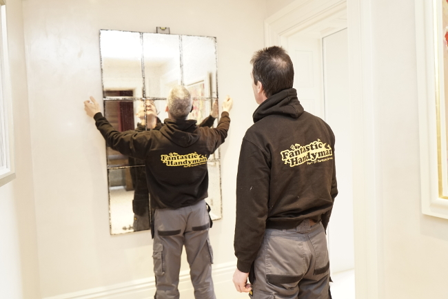 Mirror fitting in Fulham